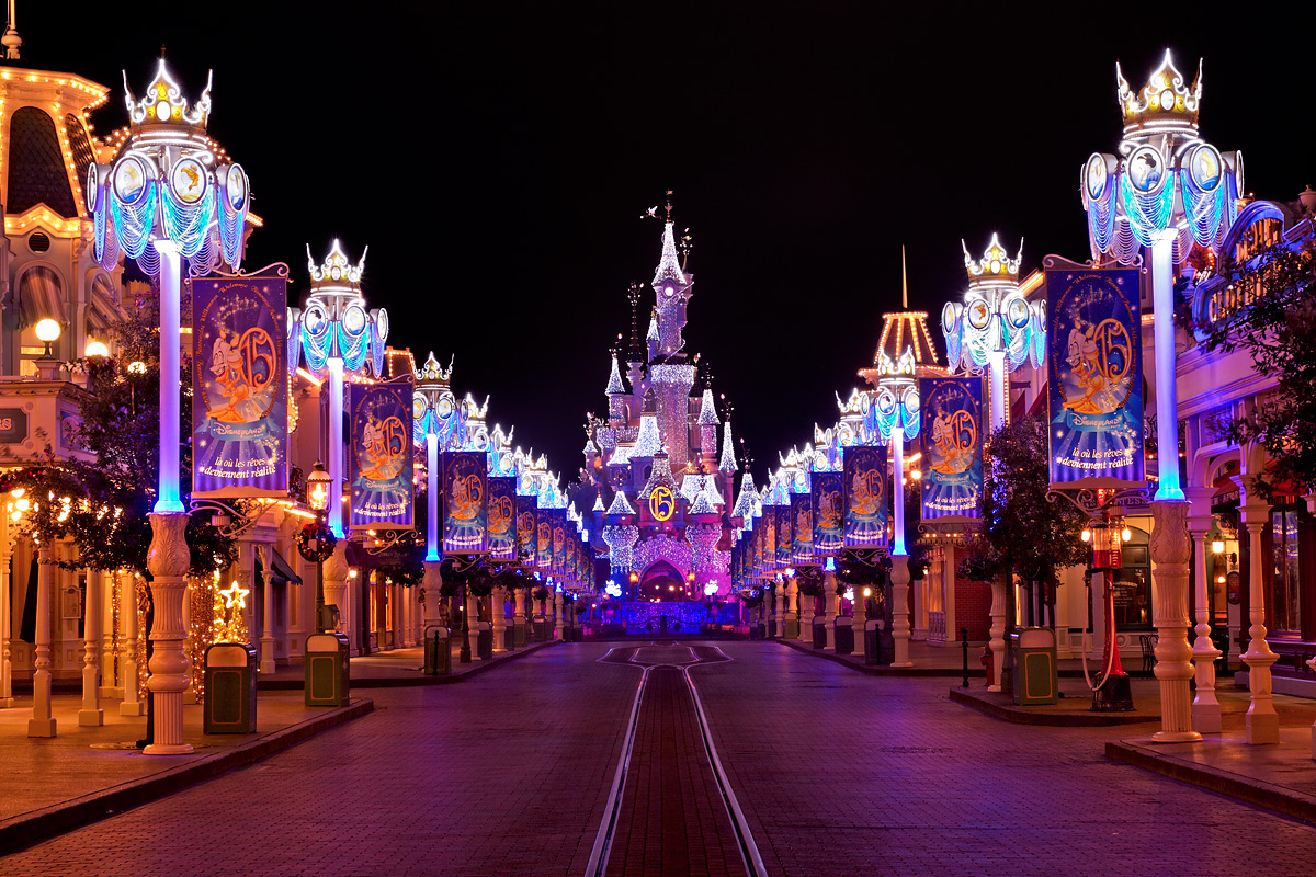 Disneyland Paris at Night Disneyland Paris by Night