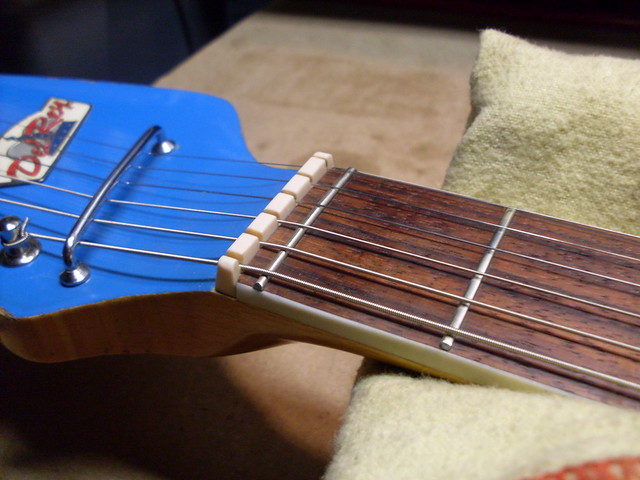 Photo:New Nut and Zero Fret with Strings By Roadside Guitars