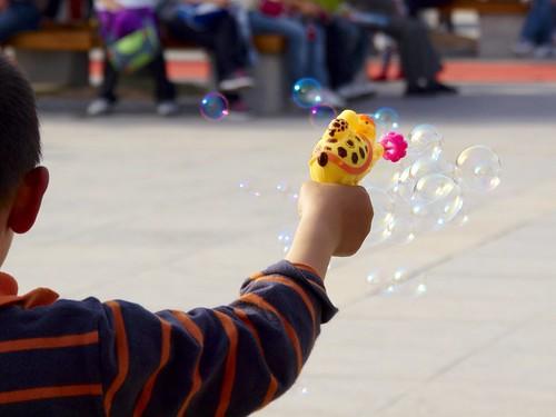 Boy with Bubble Gun