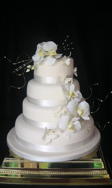 white orchids wedding cake flickr photo sharing