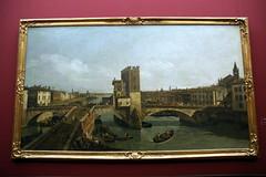 2009-06-11 06-14 Dresden 214 Gemäldegalerie Alte Meister, Canaletto - Der alte Ponte delle Navi in Verona