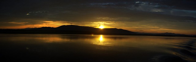 Sunrise on Lake baikal