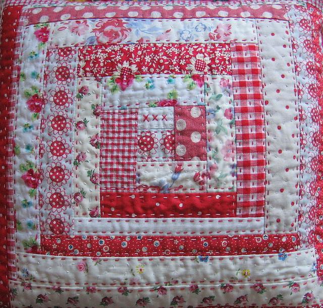 Mock log cabin cushion