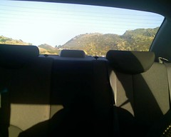 Backseat looking East while travelling West on 118 into Simi