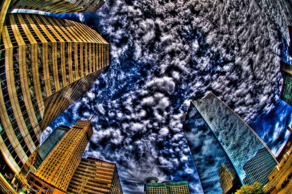 Look up at the Minneapolis Skyline by MDSimages.com