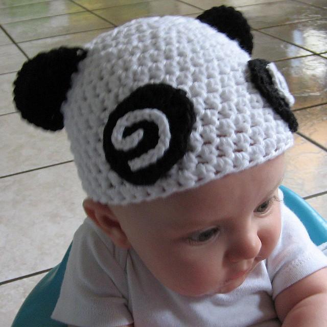 Dizzy Panda Baby Hat, again