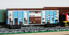 Weathered blue boxcar by swoofty