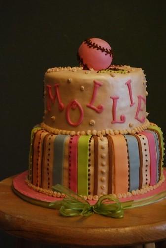 Girly Softball Cake Ideas