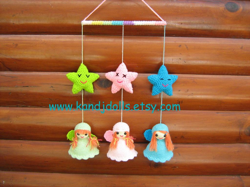 Amigurumi Baby Mobile Pattern : Little Angels Mobile, Amigurumi crochet pattern - a photo ...
