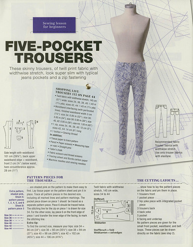 Burda-March-2014 Jeans Detailed Instructions