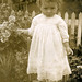 Edwardian child in the garden