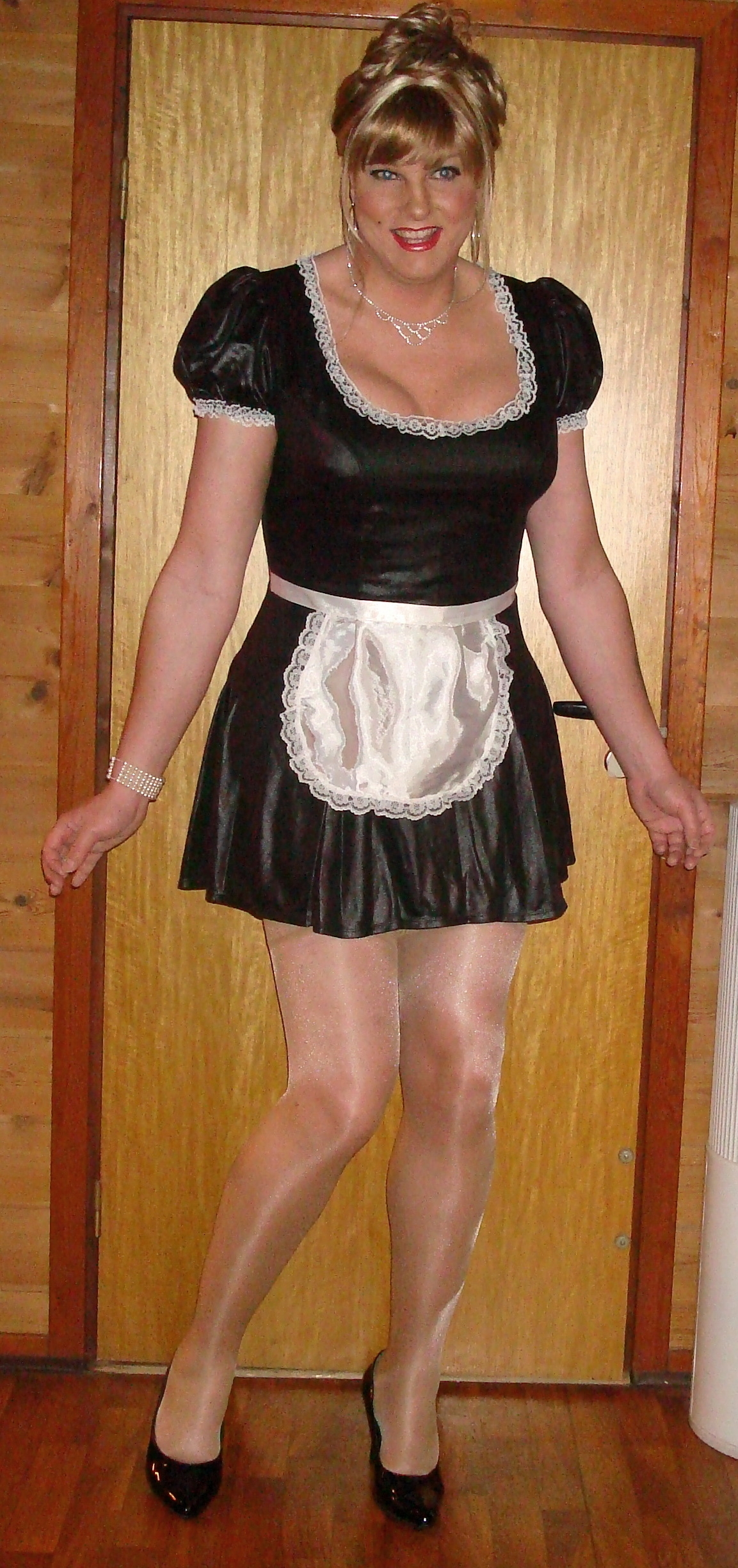 maid high heels and French