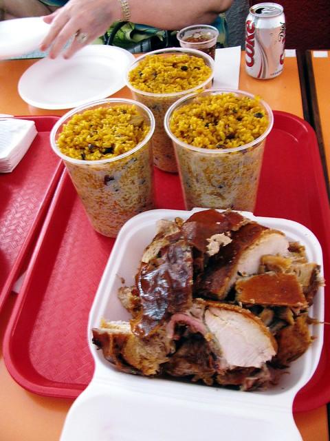 Lechon y arroz con gandules   Flickr - Photo Sharing!