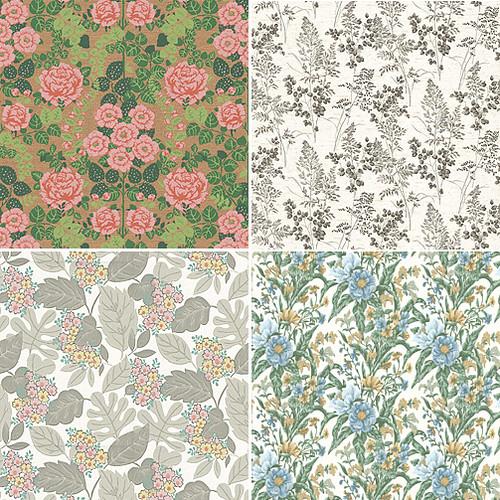 NetVintage Twitter Background Flickrvintage Floral Wallpaper