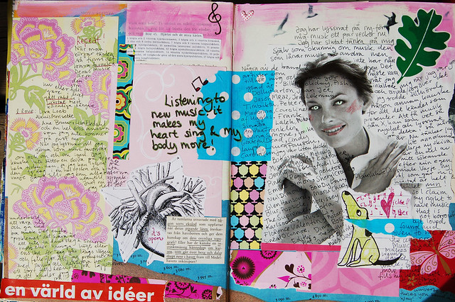 Art Journaling journaling: Can you hear the music