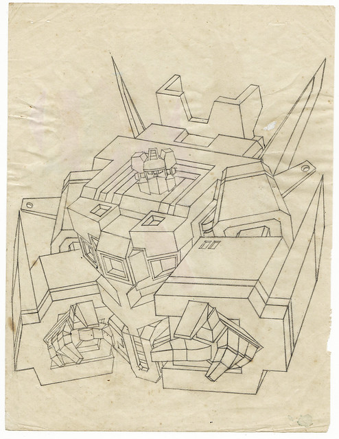An unfinished robot study drawing (1990's)