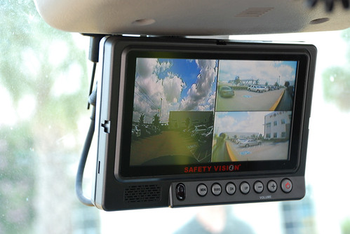 Cab-mounted video monitor