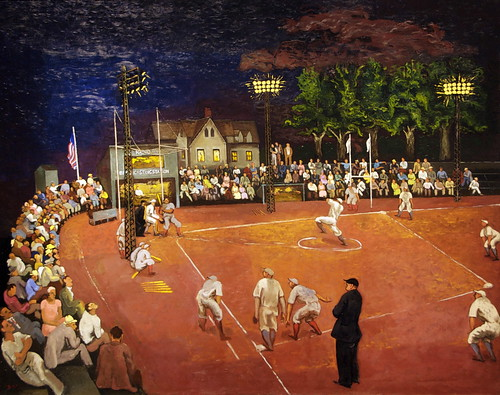 Baseball at Night by Morris Kantor