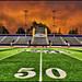football stadium field 50 yard line - university of st. thomas - minnesota by Dan Anderson.