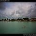 Swimming near the dock, Belize