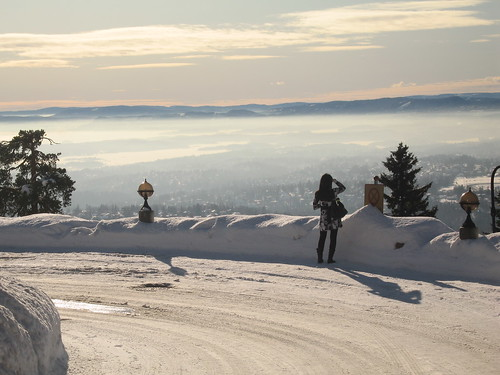 Winter in Holmenkollen, Oslo, Norway