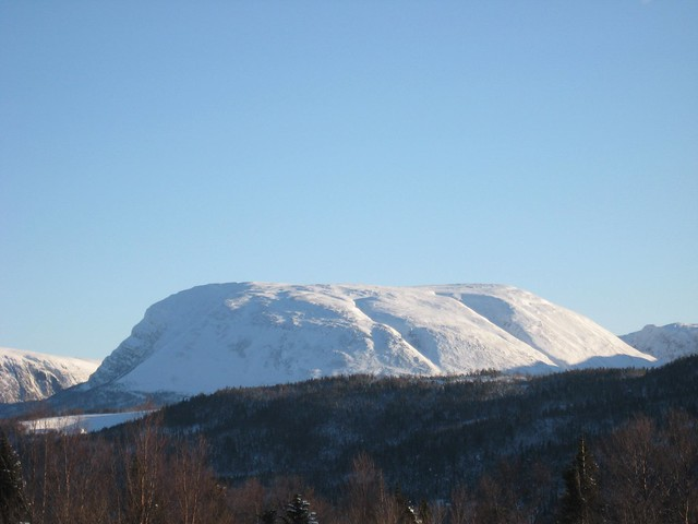 Gros Morne Mountain in Winter