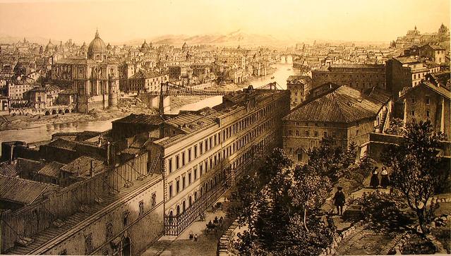 1863 2008 Via della Lungara e il manicomio