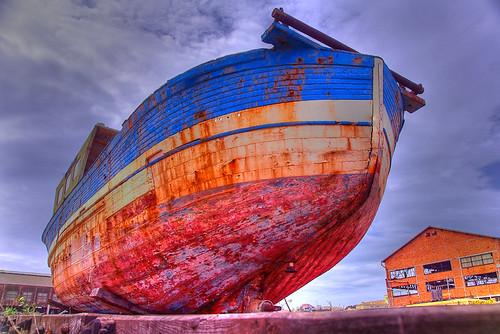 Drydock boat in La Ciotat