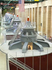 power generating turbines in hoover dam arizona