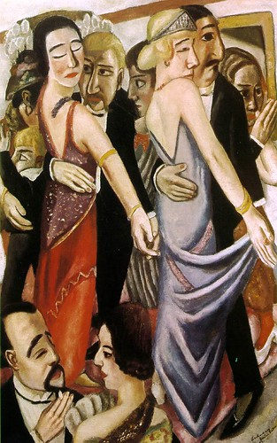 Beckmann, Max (1884-1950 ) - 1923 Dancing Bar in Baden Baden (State Art Collection, Munich)