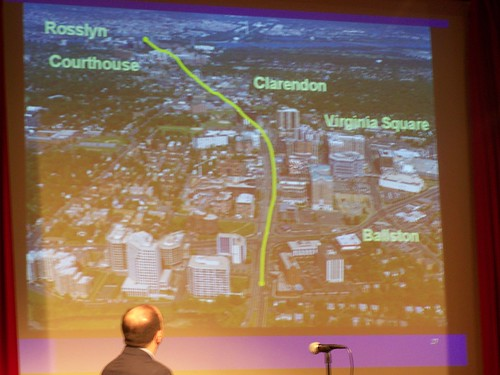 Arlington plan, dense corridor, low density residential outside the corridor, Chris Zimmerman presentation, Smart Growth presentation on Rockville Pike