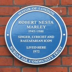 Photo of Bob Marley blue plaque