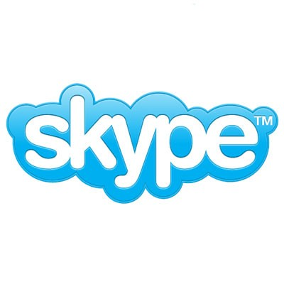 skype logo - blue on white