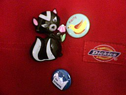 pins, including Avon 1972 dessicated *glace* skunk pin