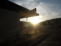Bus Station at Sunset