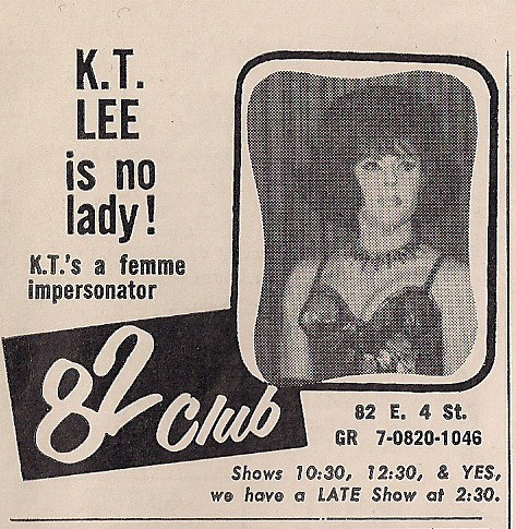 January 1966 Club 82 Advertisement - NYC, NY