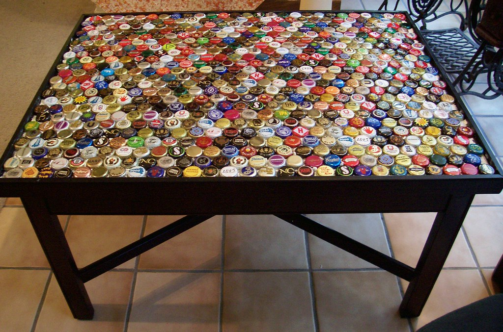 Attrayant Bottle Cap Coffee Table, Step 4