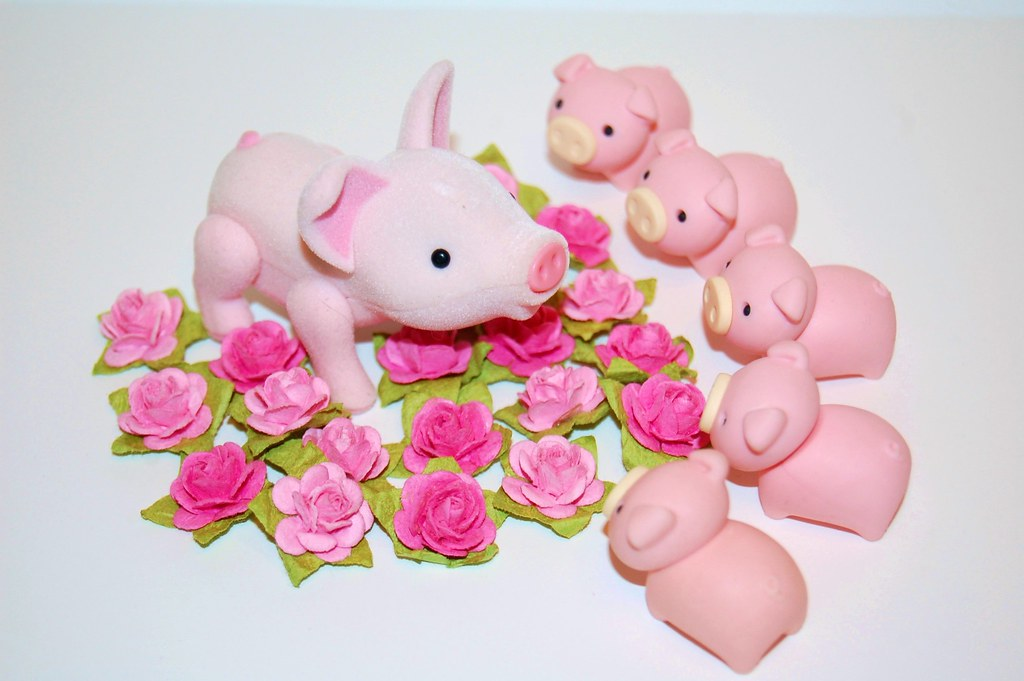 """Our Mom is the prettiest rose in the garden...and she smells good too!"" ~ Piggy"