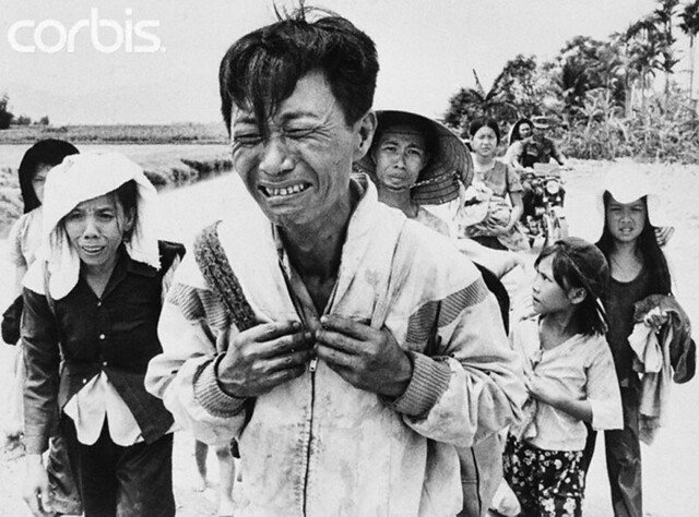 29 Mar 1975, Van Ninh, South Vietnam - Weeping Man
