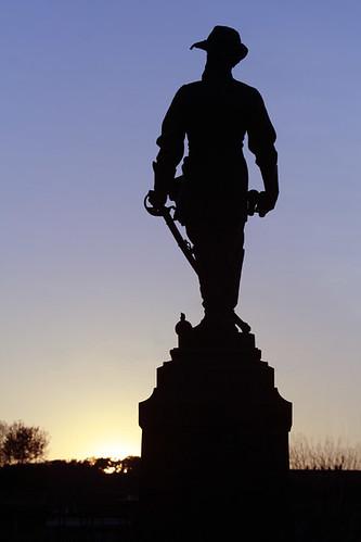 sunset monument statue virginia memorial thomas lexington military jackson institute va stonewall vmi