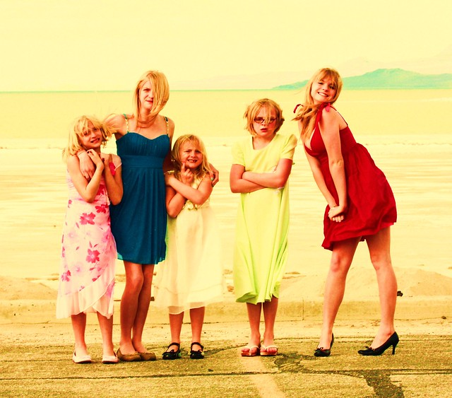 Me With My 4 Sisters at The Beach