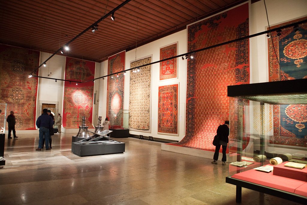 Some of the rugs at the Museum of Turkish and Islamic Arts