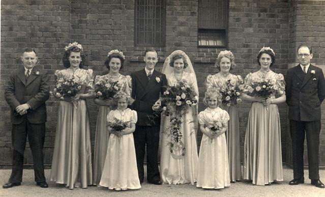 A 1940s wedding