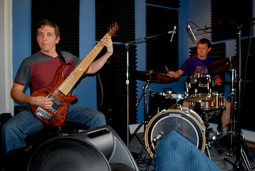 Groovesect's Tommy Sciple on bass and Colin Davis on drums