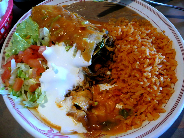 Shredded Beef Chimichanga at Las Delicias ~ Glendale, CO | Flickr ...