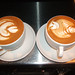 Latte Art Bee & Tulip