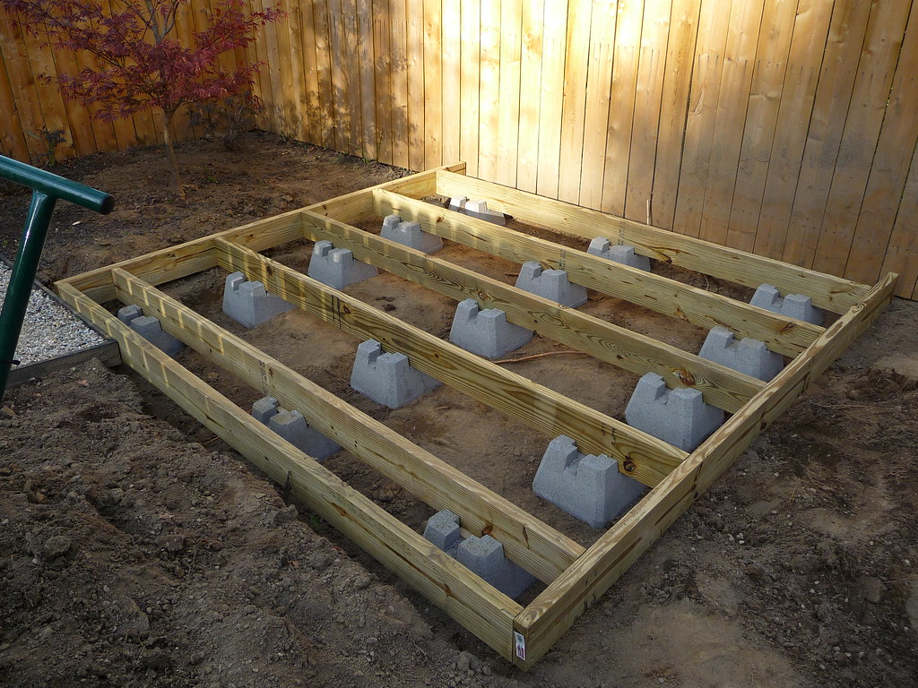 Build shed using deck blocks free picnic table plans 2x4 for 10x10 garage door lowes