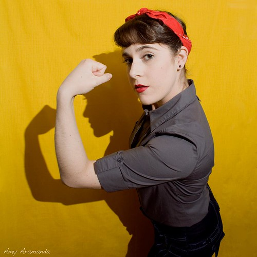 Rosie the Riveter Self Portrait