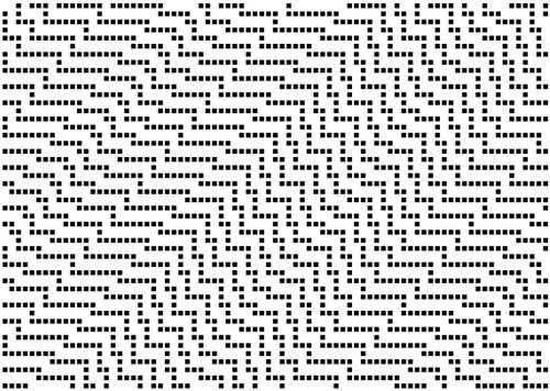 cellular automaton   rule 85