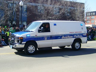 Boston Police Special Operations Commercial Vehicle Enforcement van #8714.